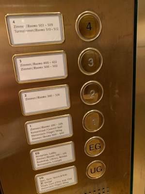 Schloss Elmau elevator