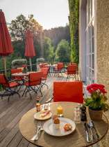 Schloss Elmau breakfast room