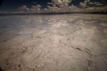 Cloud reflections Salinas Grandes