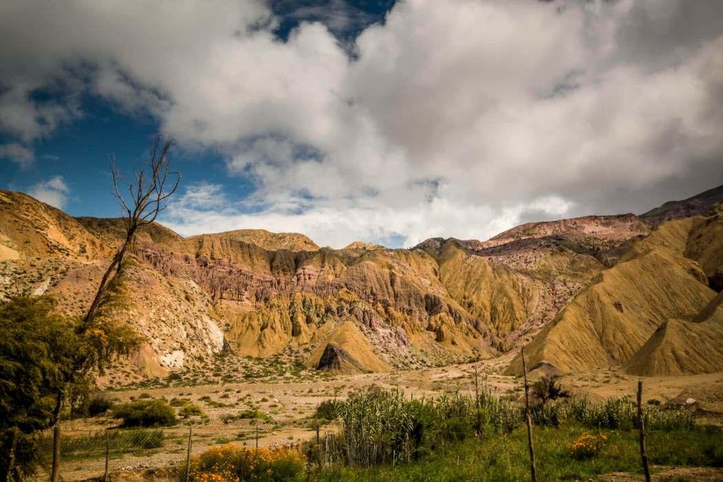 Humahuaca Gorge green mountains