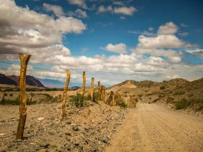 Sign posts along Ruta 40 Salta