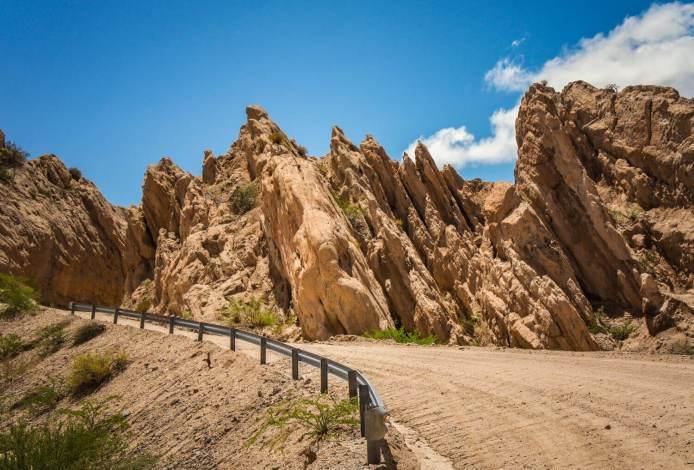 Rock formations Quebrada de las Flechas
