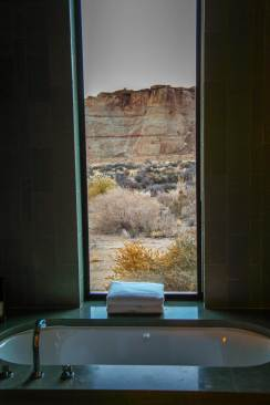 Amangiri bathtub view