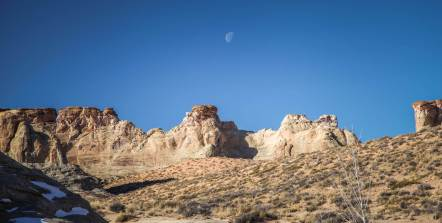moonrise over Amangiri