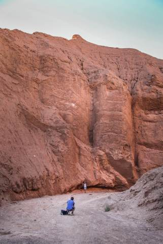 steep walls Devil's Canyon Atacama