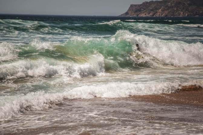 Praia do Guincho big waves