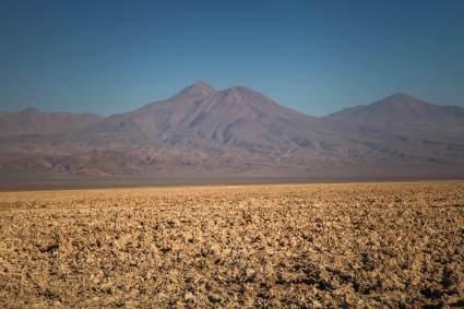 Volcano across Salar de Atacama