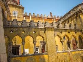 Sintra Palacio da Pena colonnade