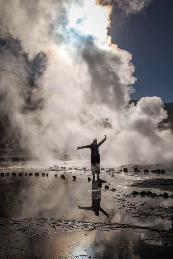 passing in steam El Tatio