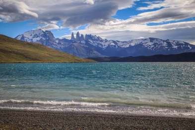 lake view of The Towers Patagonia
