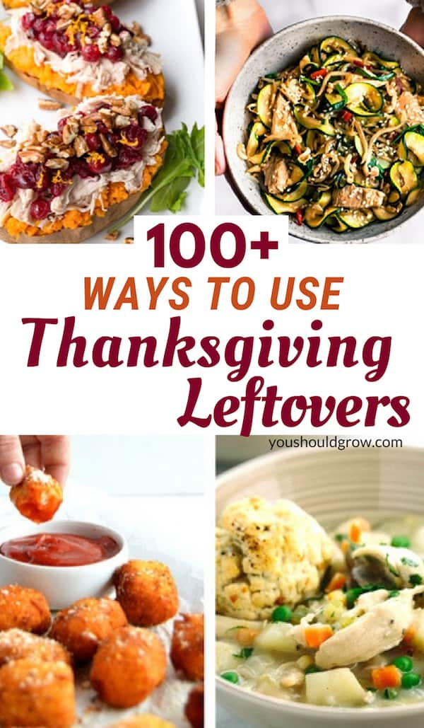 Thanksgiving leftover recipes collage