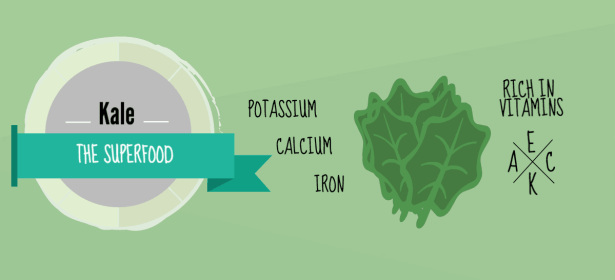 There are many vitamins and minerals in kale.