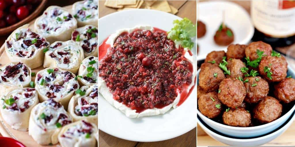 cranberry appetizer collage
