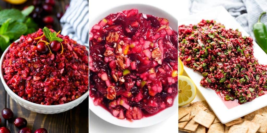 cranberry relish collage