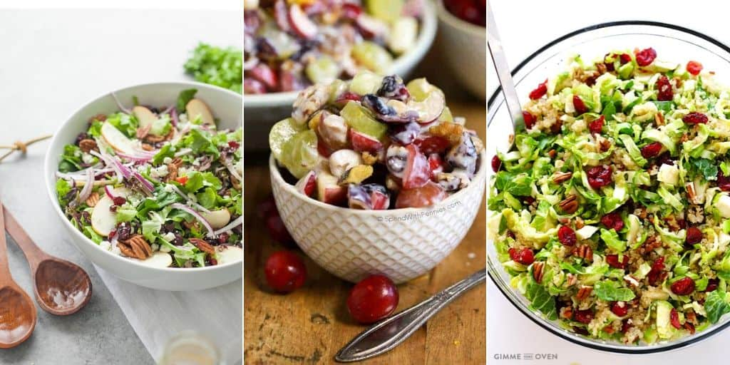 cranberry salad collage