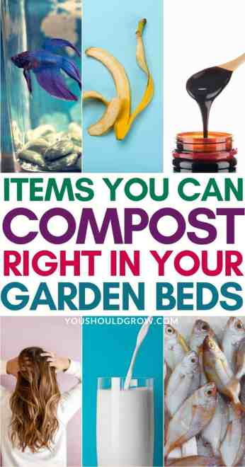 items you can compost right in your garden bed pinterest pin
