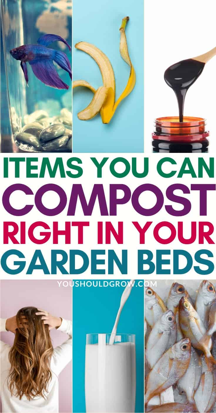 Easier than composting, simply toss these household items into your garden beds for healthier soil.