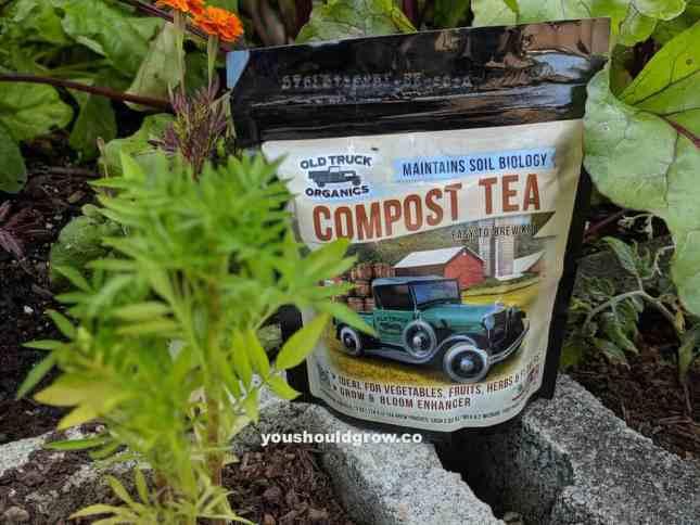 bag of compost tea packs for fertilizing tomatoes