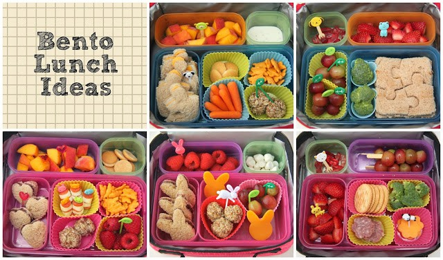 Bento lunch collage - lunch ideas for kids