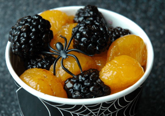 spooky halloween fruit salad