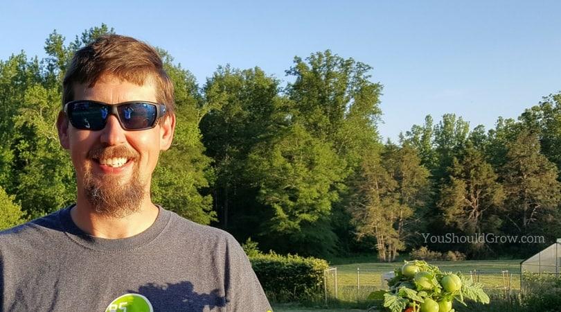 Gardener wearing sunglasses