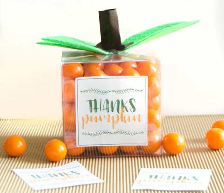 Pumpkin craft party favor