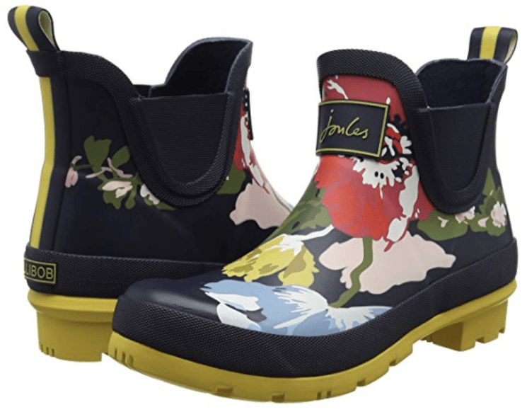 I love these colorful boots for gardening!