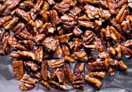 Yummy 5 minute candied pecans recipe