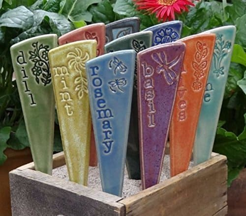 ceramic herb garden markers
