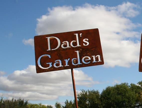 garden stake against the sky