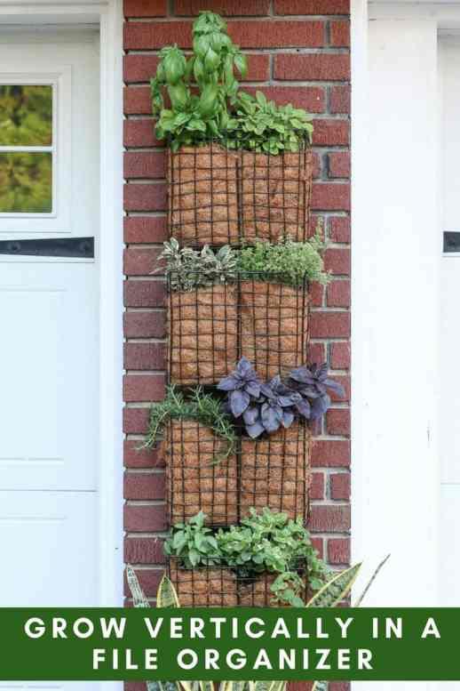 diy vertical garden file organizer