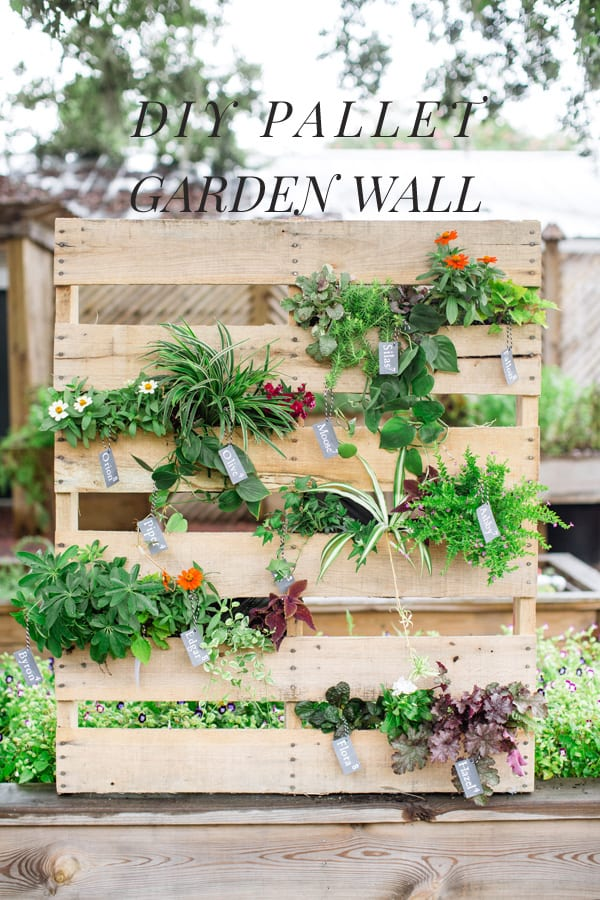 diy vertical garden pallet planter