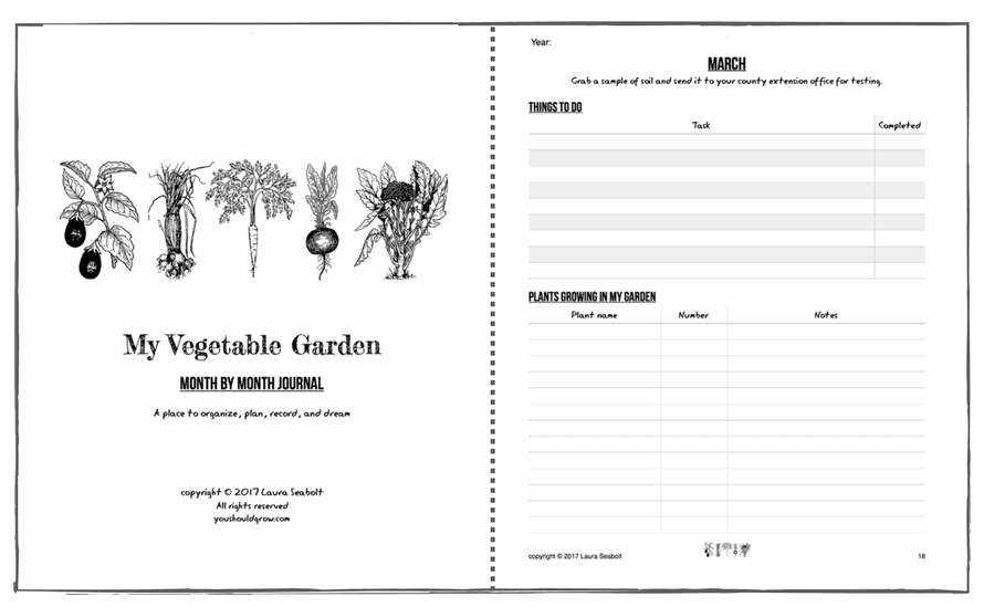 Preview My Vegetable Garden: Month by Month journal