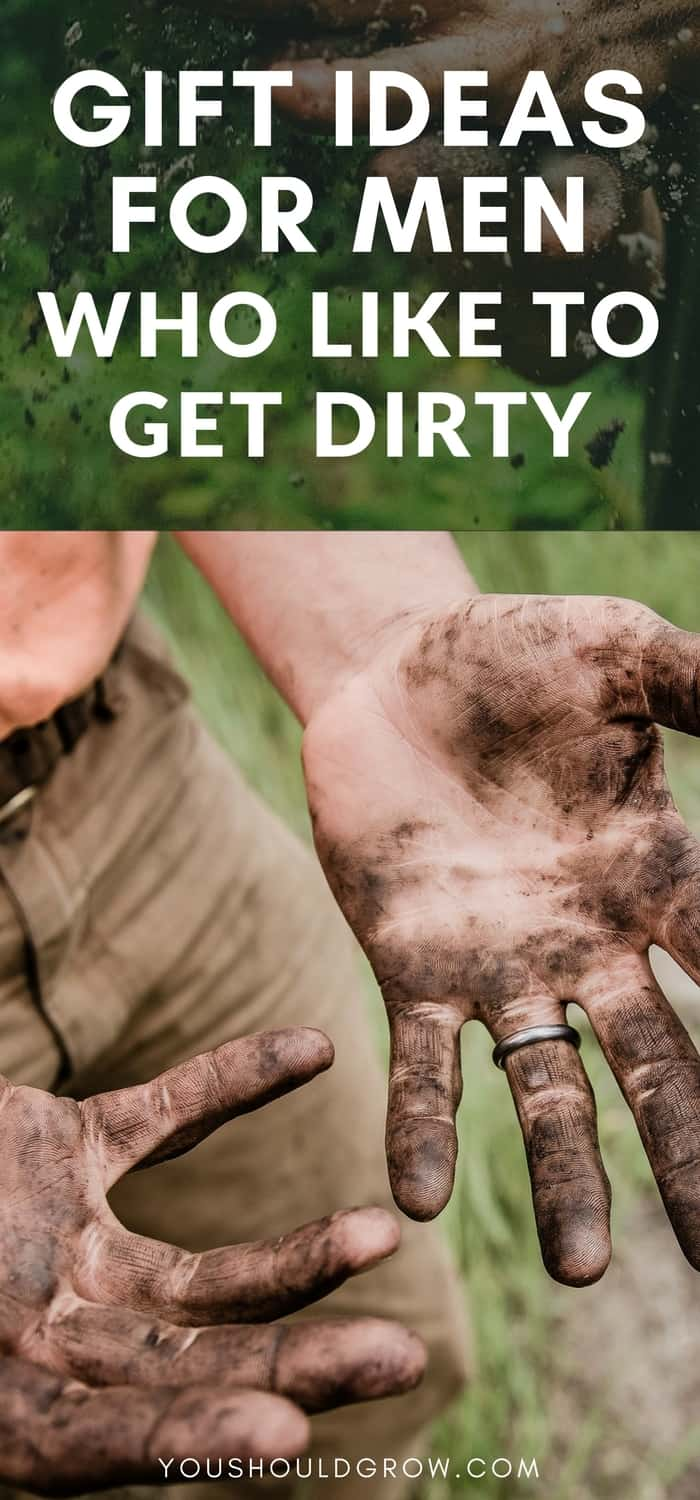 Gardening gift ideas for men. Searching for garden themed gift ideas for the man in your life? I've got some great gift ideas for guys who like to get dirty...in the garden.