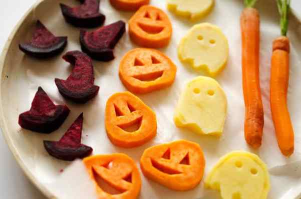 healthy halloween food ideas: roasted veggies