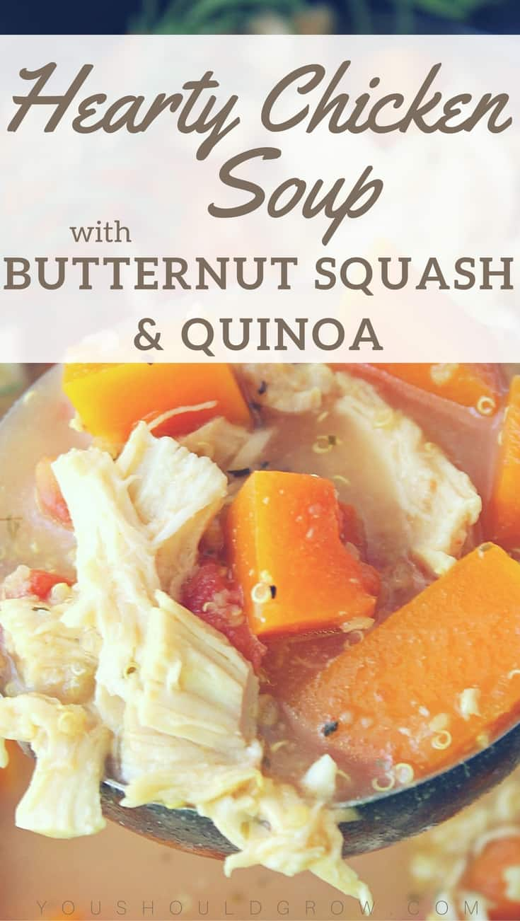 Make this easy chicken soup with butternut squash and quinoa in your slow cooker.