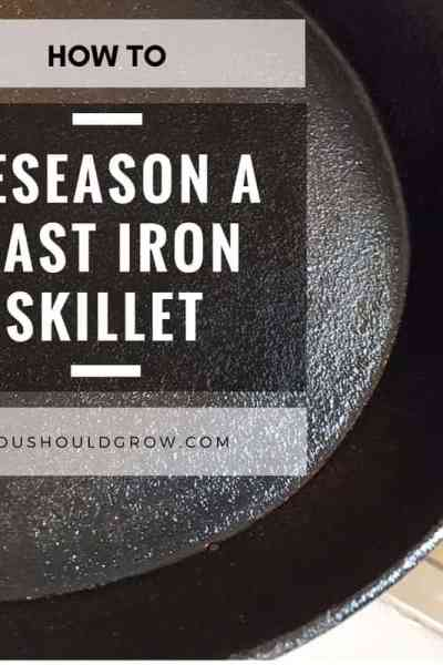 how to reseason a cast iron skillet featured