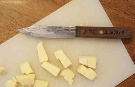 The Old Hickory paring knife included in the Pioneer Homestead Box
