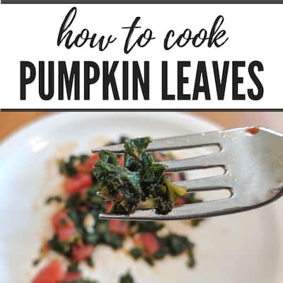 Pumpkin Leaves For Dinner? Yes, Please!