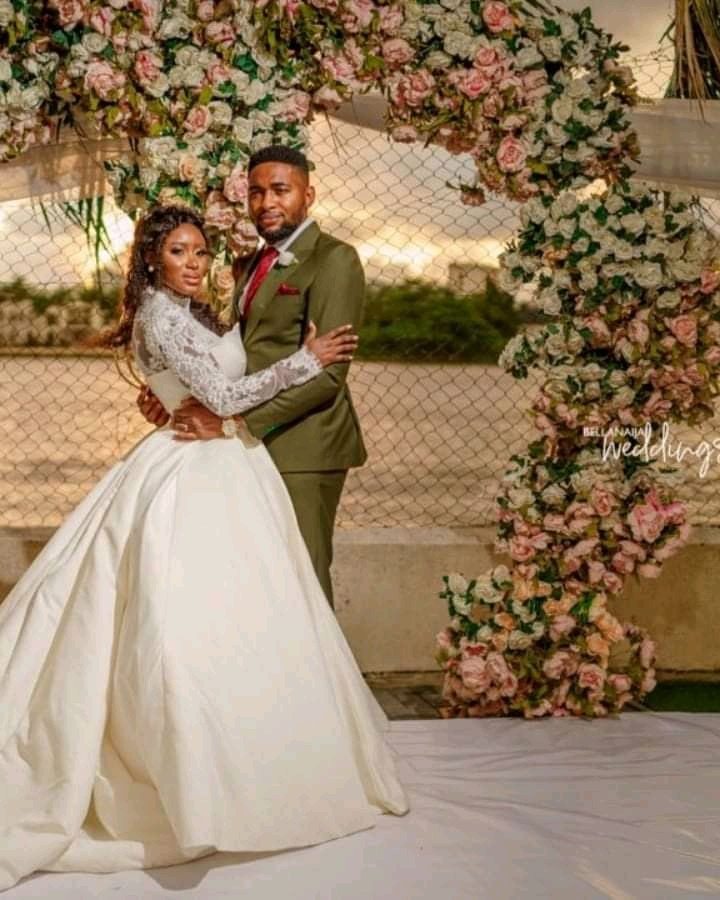 Bola and Kcee Outdoor White Wedding