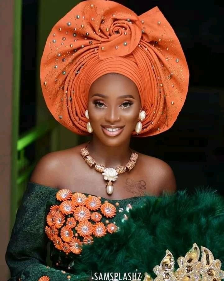 gele styles for Nigerian brides