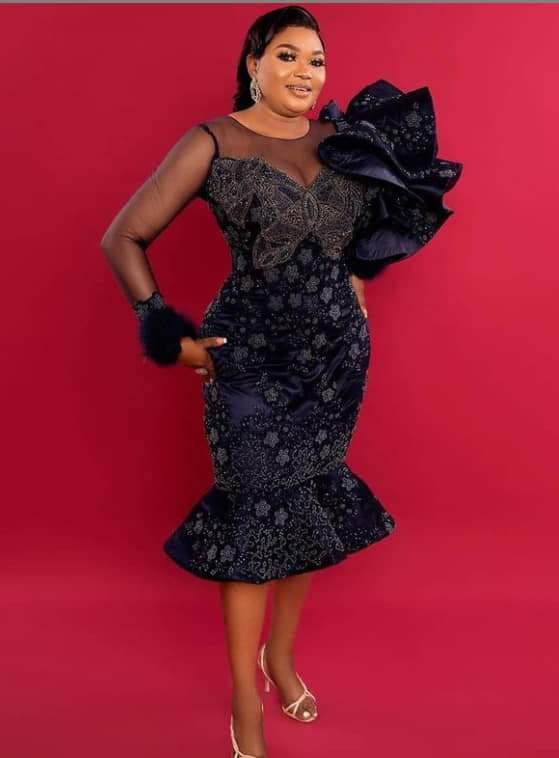black asoabi lace styles