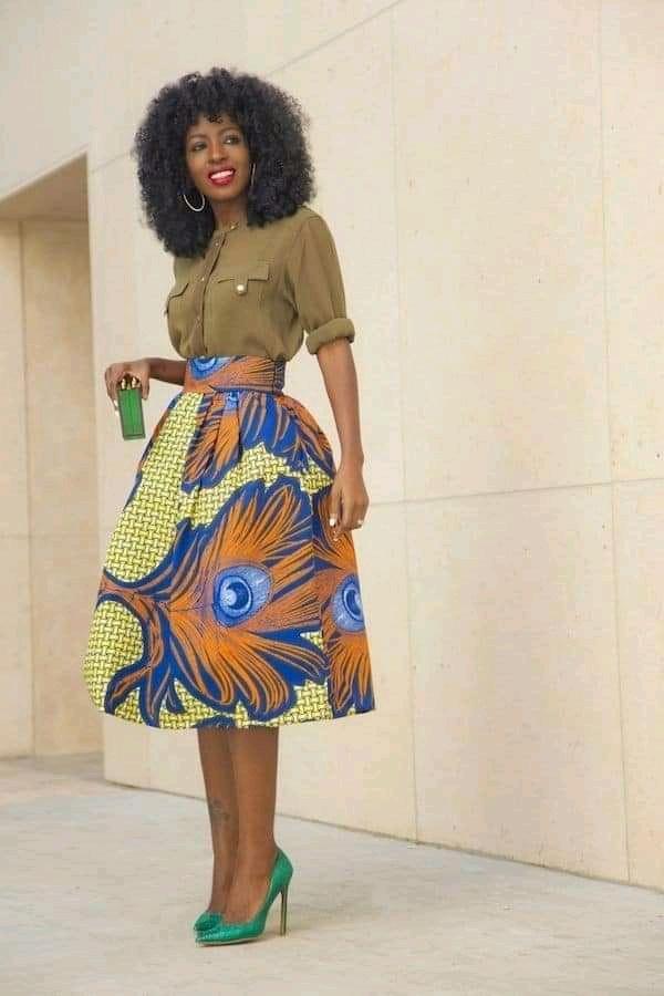 Ankara skirt for ladies