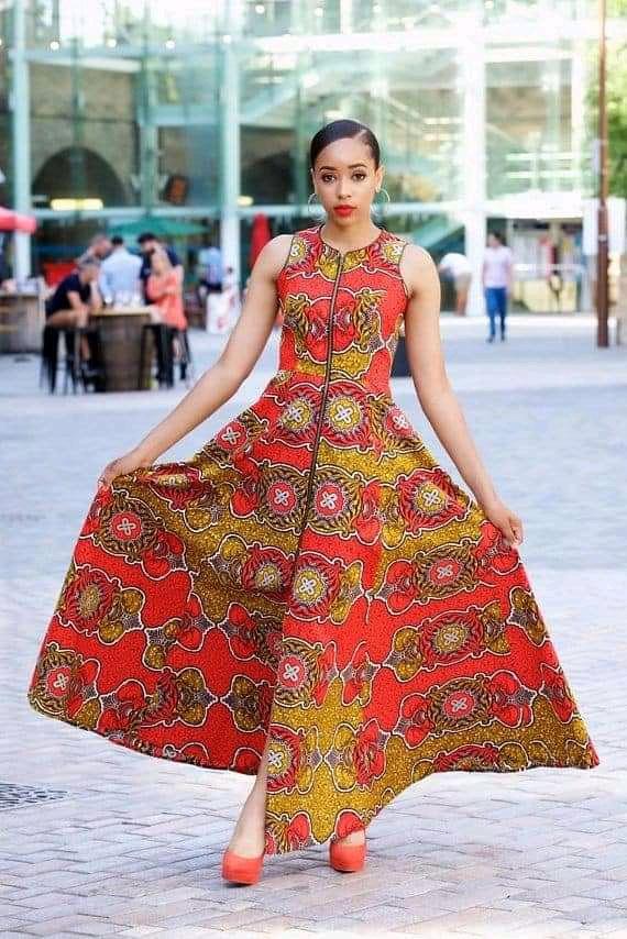 Ankara maxi gown styles
