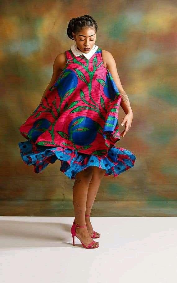 Ankara maternity gown