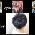 名古屋でメンズはダブルカラーで色落ちが綺麗なブルーバイオレットがおすすめ【みつのぶさん】の髪色