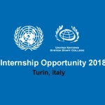 Paid Internship Opportunity 2018 at UNSSC in Turin, Italy