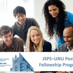 JSPS–UNU Postdoctoral Fellowship Program 2018 in Tokyo, Japan