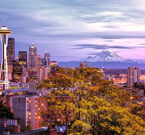 Picture of Seattle in the fall