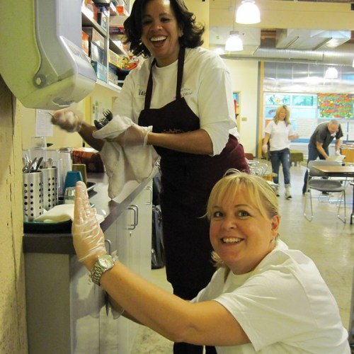 Nordstrom employees volunteering